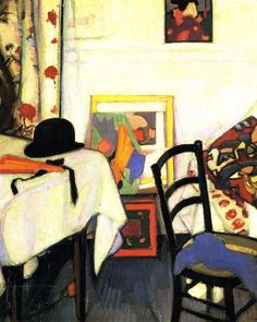 SAMUEL JOHN PEPLOE  Interior with Japanese Print