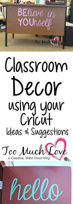 to Use Your Cricut for the Classroom Use your Cricut to decorate your classroom.Use your Cricut to decorate your classroom. Middle School Classroom, Classroom Setup, Classroom Design, Music Classroom, Future Classroom, Classroom Organization, Classroom Door Quotes, Inspirational Classroom Quotes, Classroom Wall Decor