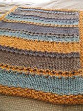 groovy little baby blanket, free pattern. by Janster groovy little baby blanket, free pattern. by Janster Knitting For Kids, Baby Knitting Patterns, Baby Patterns, Knitting Projects, Crochet Patterns, Knitted Afghans, Knitted Baby Blankets, Baby Blanket Crochet, Crochet Baby
