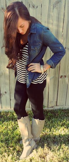 Top: F21 Chambray: Target Pants: F21 Boots: Addisons