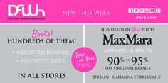 NEW this week: • Hundreds of boots in ALL stores • Max Mara Dublin & Gahanna ONLY  #DFWh #NewThisWeek