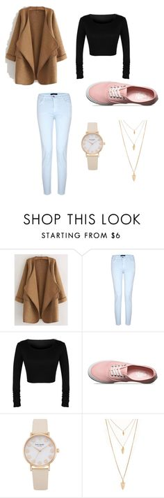 """Untitled #41"" by unforgettablemendes ❤ liked on Polyvore featuring WithChic, J Brand, Vans and Forever 21"