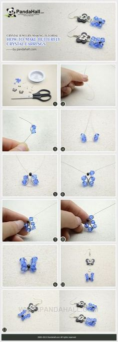 Jewelry Making Tutorial--How to Make Butterfly Crystal Earrings | PandaHall Beads Jewelry Blog