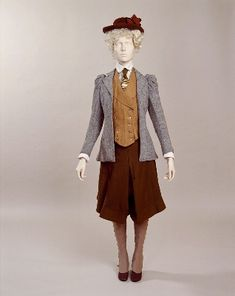 cycling suit ca. 1895-1900 via Manchester City Galleries