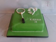 Badminton Cake - cake by Natalie Wells Tennis Cake, Birthday Cakes For Men, Birthday Ideas, Sport Cakes, Candy Crafts, Badminton, Fondant Cakes, Themed Cakes, How To Make Cake