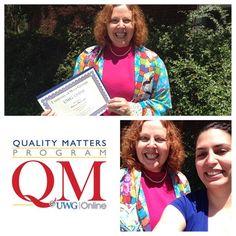 Congrats to Dawn McCord of the UWG Music Department and her successful completion of the UWG Online QM Training Program! #uwgonline #uwg #qualitymatters #blazingtrailstonewpossibilties