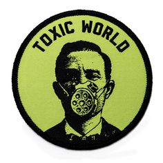 Put on that gas mask if you plan to venture out into this toxic world. Embroidered patch design Merrowed edge stitching Iron-on backing Measurements: diameter By Pretty Bad Co. Cool Patches, Pin And Patches, Jacket Patches, Punk Patches, Arte Punk, Morale Patch, Patch Design, Printed Shirts, Shirt Designs