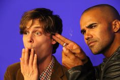 Matthew Gray Gubler, Shemar Moore. Haha these two make me laugh.