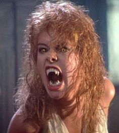 Amanda Bearse, best known as the deceptively sleazy Marcie on Married With Children, played a sweet high schooler who transforms into a sexy vamp before ultimately becoming a frightening creature of the night in the original Fright Night.