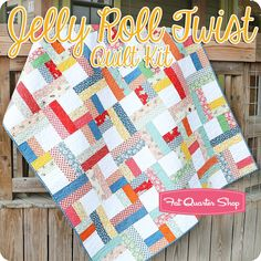 Jelly Roll Twist Quilt Kit <br/>Featuring Hop, Skip and a Jump! by American Jane