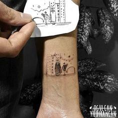 by Ogulcan YILDIRANCAN instagram: @ogulcantattooer leon the professional tattoo minimal cute mathilda