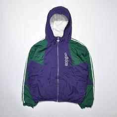 Rare Vintage 90s ADIDAS Hip Hop Bomber Coat Jacket / Retro ADIDAS / Puffer Adidas Jacket / Adidas Windbreaker / Adidas TREFOIL Logo Hoodie