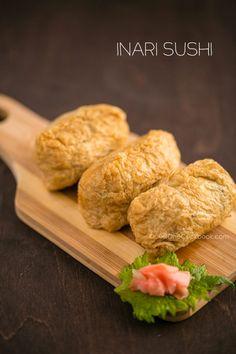 Inari Sushi Recipe with Vegetarian Dashi Stock - #inari #tofu #sushi