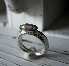 Sapphire Hot Dog Ring by HotRoxCustomJewelry on Etsy, $145.00