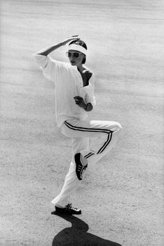 Sporty chic: a Vogue model wearing Ralph Lauren, headband and aviator sunglasses at the Xanadu Princess Hotel, Freeport, Grand Bahama in 1973.