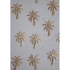 20 mini thermocollants palmiers dorés