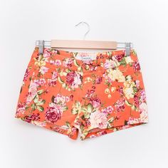 Orange Floral Shorts Such a cute floral design. Perfect for summer! PLEASE DO NOT BUY THIS LISTING. Comment when you're ready to purchase and I'll make you a new listing  Shorts