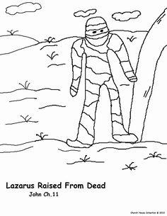 La Resurreccion De Lazaro- Pagina De Colorear