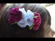 how to make fabric flowers - YouTube