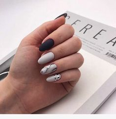 There are three kinds of fake nails which all come from the family of plastics. Acrylic nails are a liquid and powder mix. They are mixed in front of you and then they are brushed onto your nails and shaped. These nails are air dried. Marble Nail Designs, Pretty Nail Designs, Winter Nail Designs, Acrylic Nail Designs, Nail Art Designs, Nails Design, Blog Designs, Cute Acrylic Nails, Matte Nails