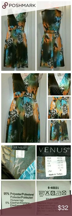 *New Listing* Gorgeous Print Dress Venus Casual or Party Dress Venus Dresses