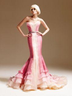 "Versace Atelier Spring 2011 ombre silk ""Mermaid"" gown"