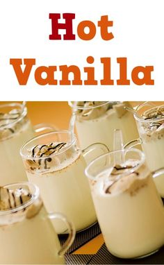 Hot Vanilla with Cream Recipe! ~ the perfect treat to warm you through and through! #recipes