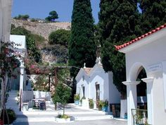 Spyliani monastery Samos Greece, Beautiful Places, Most Beautiful, Greece Islands, Amazing Nature, Places To Visit, Greek, Mansions, House Styles