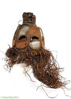 Bembe Helmet Mask Multiple Faces Kalunga (Alunga) DR Congo - Congo - African Masks