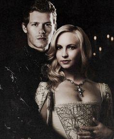 The Vampire Diaries: Klaus and Caroline.