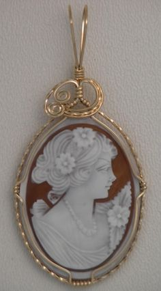 Wire Wrapped Cameo Jewelry.