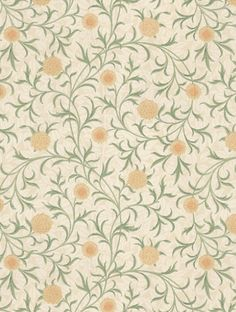 Morris and Co Scroll Wallpaper - 210365