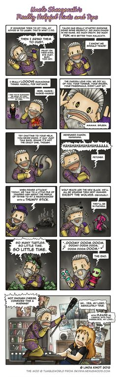 """""""Uncle Sheogorath's Really Helpful Hints and Tips"""" by Isriana on DeviantArt.com."""