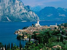 Lake Garda in Northern Italy