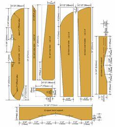 Planos de detalhes do lado da cadeira de Cape Cod