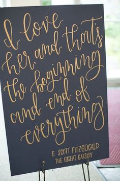 Navy Blue and Gold Lesner Inn Wedding Sign / http://www.deerpearlflowers.com/navy-blue-and-gold-wedding-color-ideas/