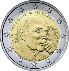 Francia 2 euros conmemorativos 2016 – François Mitterrand