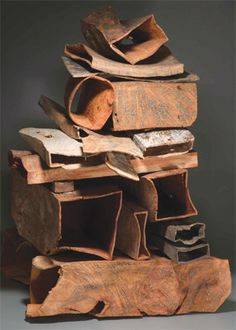 Michael Peterson Coastal Stack V, 2008 Madrone bui, carved, sandblasted, bleached and pigmented Collection of the Philadelphia Museum of art Abstract Sculpture, Sculpture Art, Wood Artwork, Philadelphia Museum Of Art, Steel Sculpture, Coastal Art, Wooden Art, Fantastic Art, Beach Art