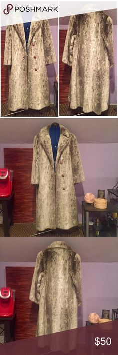 """Big a.f. Vintage Fur Coat (⚠️READ WARNING) A vintage fur coat, claimed by the former owner to be seal fur. Originally from a furs shop in Erie, PA. Size is unknown but is estimated to be an adult large. Mannequin is 5'4"""". ⚠️ WARNING TO FUR COLLECTORS: COMPOSITION NOT INDICATED ANYWHERE ON PRODUCT. BUY AT YOUR OWN RISK. No flaws identified. Feel free to ask questions. Reasonable offers considered. No trades. J.C. Kramer Jackets & Coats"""