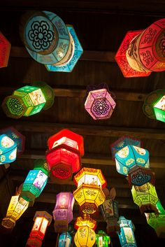 Chinese Lanterns by GraceYang  Style Asiatique, Art Asiatique, Lantern Festival, All Of The Lights, Chinese Culture, World Of Color, Paper Lanterns, Chinese New Year, Colour Schemes