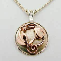 Clogau Tree of Life 9ct or Rose & 925 argent Sterling collier