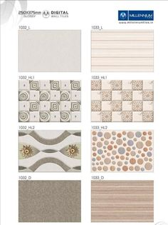 #Patterns that never go out of #style.  Wall Tile #Design 1032 & 1033 - Millennium Tiles 250x375mm (10x15) Digital Ceramic Glossy Wall #Tiles Series - 1032_L - 1032_HL1 - 1032_HL2 - 1032_HL3 - 1033_L - 1033_HL1 - 1033_HL2 - 1033_D   Decorative tiles add character and depth to modern rooms. Feature walls of patterned tiles can make a big impact, particularly in small spaces.