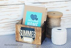 Summer Memory Box! Such a fun way to keep track of your summer memories!