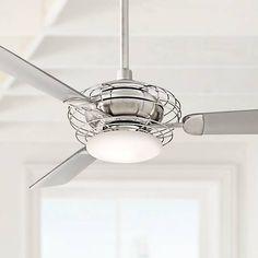 "24"" Segue Possini LED Brushed Nickel Ceiling Fan - #53Y62 | Lamps Plus"
