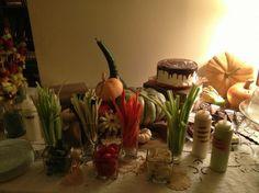 serve veggies in dollar store vases