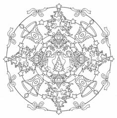 Mandala 607, Christmas Designs 3D Coloring Book, Dover Publications