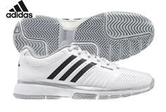 f2b1874ac61 Adidas adiPower Barricade Womens Tennis Shoe White Black Metallic Silver 10      Visit the image link more details. (This is an affiliate link)