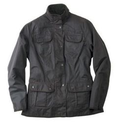 Barbour Ladies 4 Pocket Slim Fit Waxed Cotton Country Utility Jacket