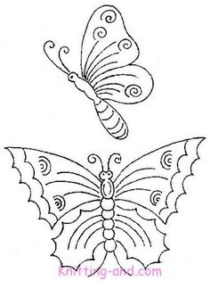 Butterfly embroidery pattern #2  [from Knitting-and.com]
