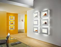 LED ceiling light fixtures: luxury apartment with ceiling and wall lights